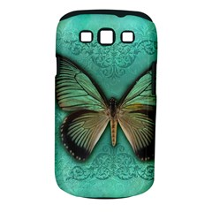 Butterfly Background Vintage Old Grunge Samsung Galaxy S Iii Classic Hardshell Case (pc+silicone)