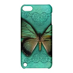 Butterfly Background Vintage Old Grunge Apple Ipod Touch 5 Hardshell Case With Stand