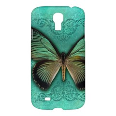 Butterfly Background Vintage Old Grunge Samsung Galaxy S4 I9500/i9505 Hardshell Case