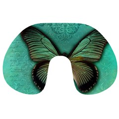 Butterfly Background Vintage Old Grunge Travel Neck Pillows