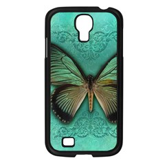 Butterfly Background Vintage Old Grunge Samsung Galaxy S4 I9500/ I9505 Case (black)