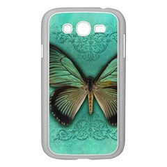 Butterfly Background Vintage Old Grunge Samsung Galaxy Grand Duos I9082 Case (white)