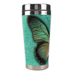 Butterfly Background Vintage Old Grunge Stainless Steel Travel Tumblers