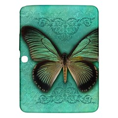 Butterfly Background Vintage Old Grunge Samsung Galaxy Tab 3 (10 1 ) P5200 Hardshell Case