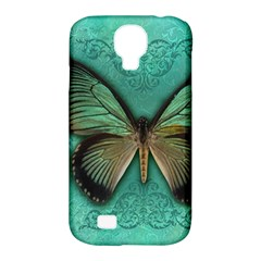 Butterfly Background Vintage Old Grunge Samsung Galaxy S4 Classic Hardshell Case (pc+silicone)