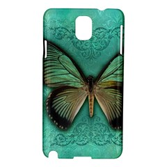 Butterfly Background Vintage Old Grunge Samsung Galaxy Note 3 N9005 Hardshell Case