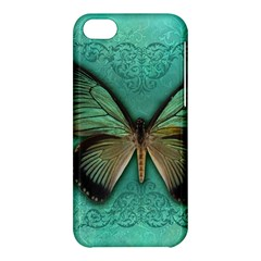 Butterfly Background Vintage Old Grunge Apple Iphone 5c Hardshell Case