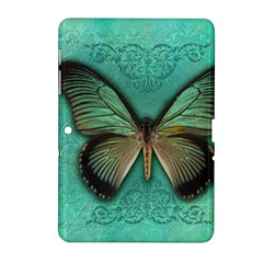 Butterfly Background Vintage Old Grunge Samsung Galaxy Tab 2 (10 1 ) P5100 Hardshell Case