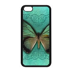 Butterfly Background Vintage Old Grunge Apple Iphone 5c Seamless Case (black)