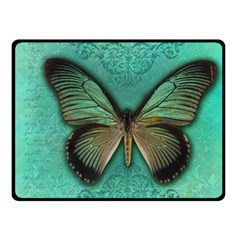 Butterfly Background Vintage Old Grunge Double Sided Fleece Blanket (small)