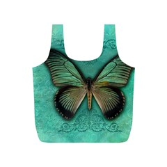 Butterfly Background Vintage Old Grunge Full Print Recycle Bags (s)