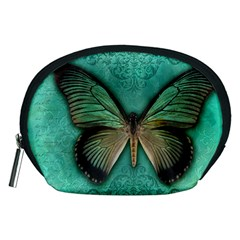 Butterfly Background Vintage Old Grunge Accessory Pouches (medium)