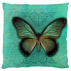 Butterfly Background Vintage Old Grunge Large Flano Cushion Case (one Side)