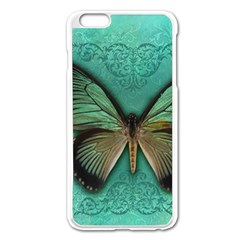 Butterfly Background Vintage Old Grunge Apple Iphone 6 Plus/6s Plus Enamel White Case