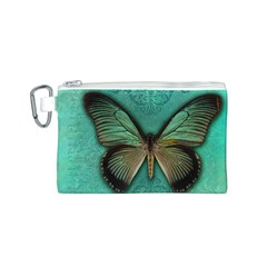 Butterfly Background Vintage Old Grunge Canvas Cosmetic Bag (S)