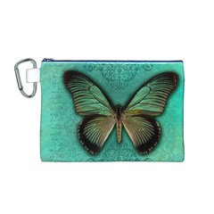 Butterfly Background Vintage Old Grunge Canvas Cosmetic Bag (m)