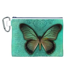 Butterfly Background Vintage Old Grunge Canvas Cosmetic Bag (l)