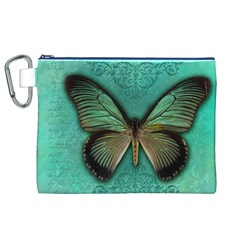 Butterfly Background Vintage Old Grunge Canvas Cosmetic Bag (xl)