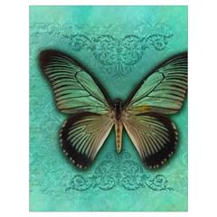 Butterfly Background Vintage Old Grunge Drawstring Bag (Large)