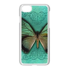 Butterfly Background Vintage Old Grunge Apple Iphone 7 Seamless Case (white)