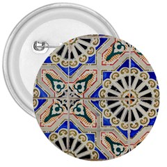Ceramic Portugal Tiles Wall 3  Buttons