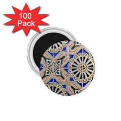Ceramic Portugal Tiles Wall 1 75  Magnets (100 Pack)