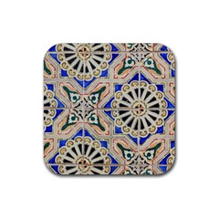Ceramic Portugal Tiles Wall Rubber Square Coaster (4 Pack)