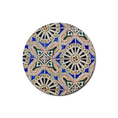 Ceramic Portugal Tiles Wall Rubber Coaster (Round)