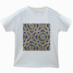 Ceramic Portugal Tiles Wall Kids White T Shirts