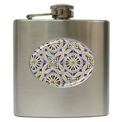 Ceramic Portugal Tiles Wall Hip Flask (6 Oz)