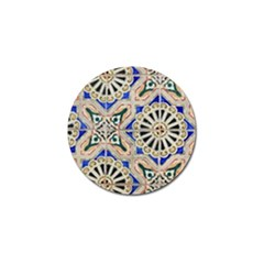 Ceramic Portugal Tiles Wall Golf Ball Marker (4 Pack)