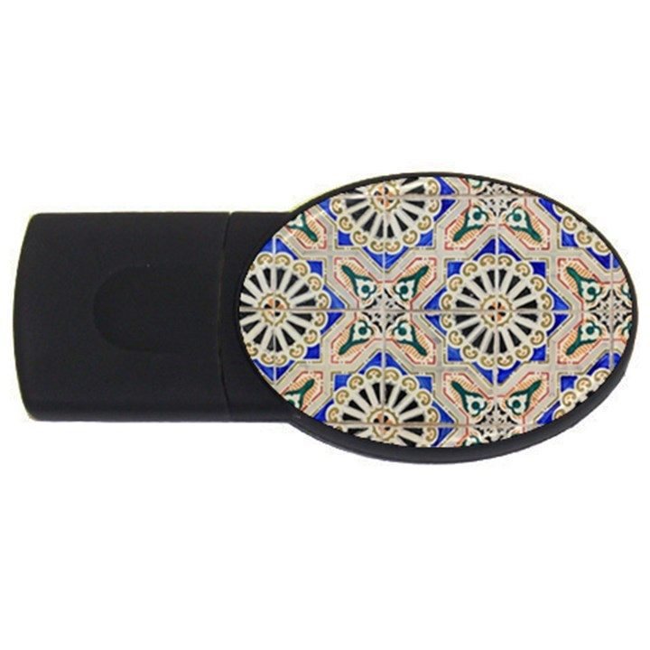 Ceramic Portugal Tiles Wall USB Flash Drive Oval (2 GB)