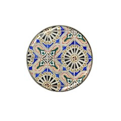 Ceramic Portugal Tiles Wall Hat Clip Ball Marker (4 Pack)