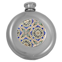 Ceramic Portugal Tiles Wall Round Hip Flask (5 Oz)