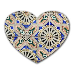 Ceramic Portugal Tiles Wall Heart Mousepads
