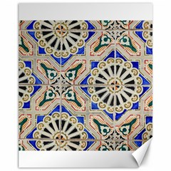 Ceramic Portugal Tiles Wall Canvas 11  X 14