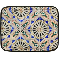 Ceramic Portugal Tiles Wall Double Sided Fleece Blanket (mini)