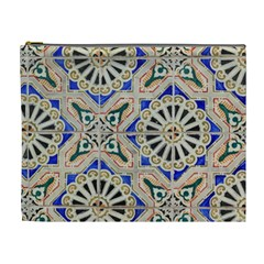 Ceramic Portugal Tiles Wall Cosmetic Bag (xl)