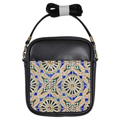 Ceramic Portugal Tiles Wall Girls Sling Bags