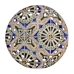 Ceramic Portugal Tiles Wall Ornament (round Filigree)