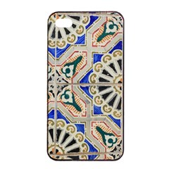 Ceramic Portugal Tiles Wall Apple Iphone 4/4s Seamless Case (black)