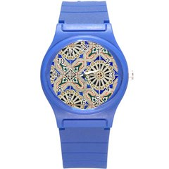 Ceramic Portugal Tiles Wall Round Plastic Sport Watch (s)