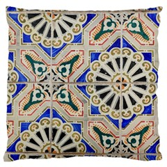 Ceramic Portugal Tiles Wall Large Cushion Case (two Sides)