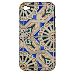 Ceramic Portugal Tiles Wall Apple Iphone 4/4s Hardshell Case (pc+silicone)