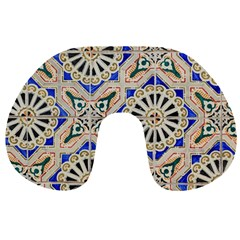 Ceramic Portugal Tiles Wall Travel Neck Pillows