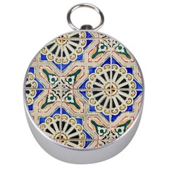 Ceramic Portugal Tiles Wall Silver Compasses