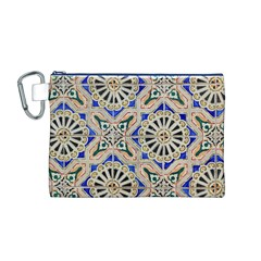 Ceramic Portugal Tiles Wall Canvas Cosmetic Bag (m)