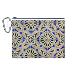 Ceramic Portugal Tiles Wall Canvas Cosmetic Bag (l)