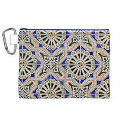 Ceramic Portugal Tiles Wall Canvas Cosmetic Bag (xl)