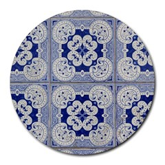 Ceramic Portugal Tiles Wall Round Mousepads